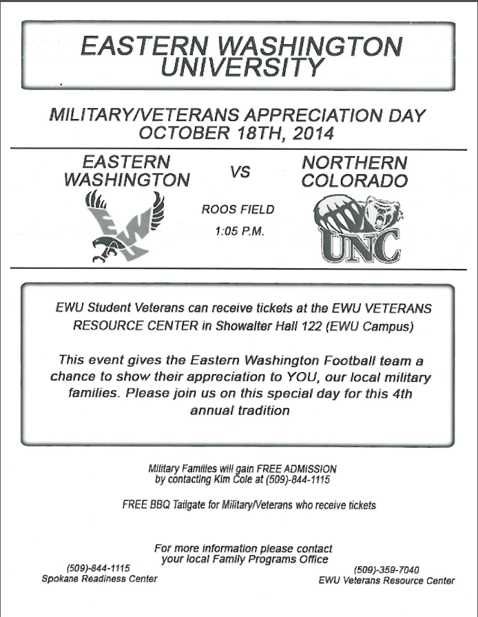 EWU's Military/Veterans Appreciation Day | VetLink