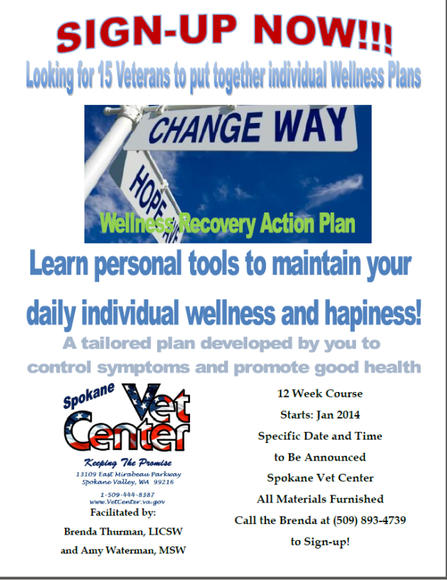 Spokane Vet Center Wants To Help With Your Wellness Action